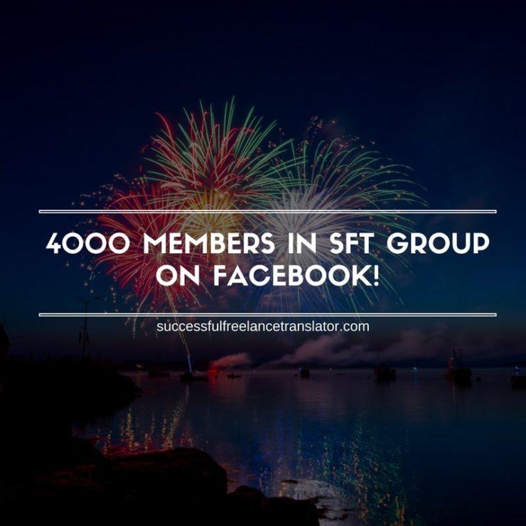 4000 MEMBERS IN SFT GROUP ON FACEBOOK!